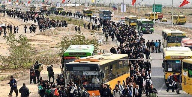 افزایش اتوبوس های حامل زائران اربعین به شهرهای مرزی