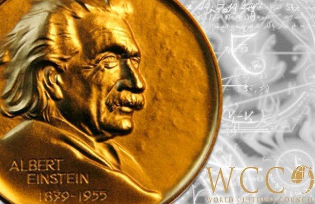 اهدای جایزه علم آلبرت اینشتین به برگزیده جایزه مصطفی (ص)