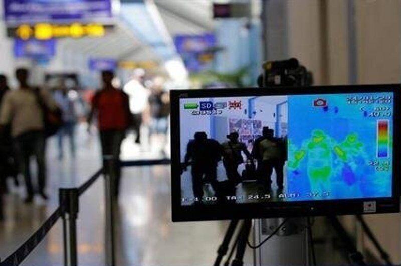 خبرنگاران دوربین حرارتی در ورودی ترمینال داخلی فرودگاه تبریز نصب شد